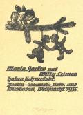 Maria Hacker und Willy Leimer haben sich verlobt (odkaz v elektronickém katalogu)