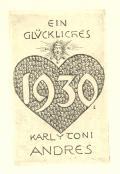 EIN GLÜCKLICHES 1930 KARL u. TONI ANDRES (odkaz v elektronickém katalogu)