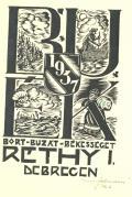 1937 BORT-BUZAT-BÉKESSÉGET RÉTHY. I. DEBRECEN (odkaz v elektronickém katalogu)