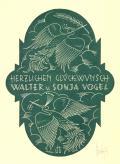HERZLICHEN GLÜCKWUNSCH WALTER u. SONJA VOGEL (odkaz v elektronickém katalogu)