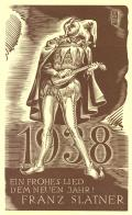 1938 EIN FROHES LIED DEM NEUEN JAHR! FRANZ SLATNER (odkaz v elektronickém katalogu)