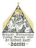 Gesegnete Weihnachten frohes Neujahr 1926! Dr. Richard Kurt Donin (odkaz v elektronickém katalogu)
