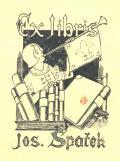 Ex libris Jos. Špaček (odkaz v elektronickém katalogu)
