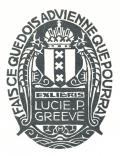 EX-LIBRIS LUCIE P. GREEVÉ (odkaz v elektronickém katalogu)