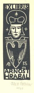 EX LIBRIS ARNOŠT HRABAL (odkaz v elektronickém katalogu)