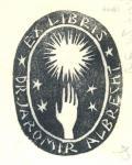 EX LIBRIS DR. JAROMÍR ALBRECHT (odkaz v elektronickém katalogu)