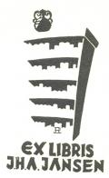 EX LIBRIS J.H.A.JANSEN (odkaz v elektronickém katalogu)