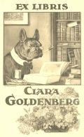 EX LIBRIS CLARA GOLDENBERG (odkaz v elektronickém katalogu)