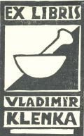 EX LIBRIS VLADIMÍR KLENKA (odkaz v elektronickém katalogu)