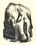 EX LIBRIS MUDR LEV HARTMAN (odkaz v elektronickém katalogu)