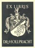 EX LIBRIS DR. J. FOLLPRACHT (odkaz v elektronickém katalogu)