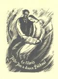 Ex libris JUDr Jan a Anna Žáčkovi (odkaz v elektronickém katalogu)