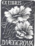 EX LIBRIS D.VEGEROVÁ (odkaz v elektronickém katalogu)