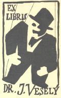 EX LIBRIS DR. J. VESELÝ (odkaz v elektronickém katalogu)