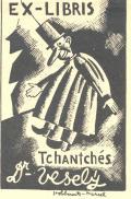 EX-LIBRIS Tchantchés Dr.-Veselý (odkaz v elektronickém katalogu)