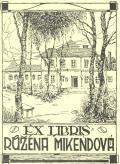 Exlibris Růžena Mikendová (odkaz v elektronickém katalogu)