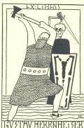 Exlibris Gustav Herrnheiser (odkaz v elektronickém katalogu)