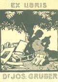 Exlibris Dr. Josef Gruber (odkaz v elektronickém katalogu)