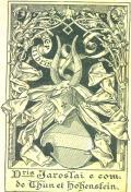 Dris Jaroslai e com de Thun et Hohenstein (odkaz v elektronickém katalogu)