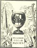 Ex-libris Oscar Hansen (odkaz v elektronickém katalogu)