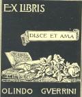 Exlibris Olindo Guerrini (odkaz v elektronickém katalogu)