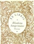 Exlibris Elisabetta Sangermano Turino (odkaz v elektronickém katalogu)