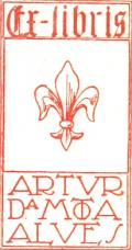 Ex-libris ARTUR DA MOTA ALVES (odkaz v elektronickém katalogu)