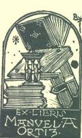 Exlibris Manuel A. Ortiz (odkaz v elektronickém katalogu)
