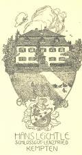 Ex Libris Hans Leichtle Schlossgut - Lenzfried Kempten (odkaz v elektronickém katalogu)