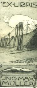 EX.LIBRIS JNC. MAX MÜLLER (odkaz v elektronickém katalogu)