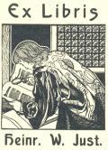 Ex Libris heinr. W. Just (odkaz v elektronickém katalogu)
