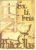 Exlibris Walter Glaš (odkaz v elektronickém katalogu)