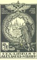 EX LIBRIS ALEXANDRI STRUPP (odkaz v elektronickém katalogu)