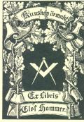 Ex libris Elof Hammer (odkaz v elektronickém katalogu)