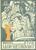 EX LIBRIS PROF. JUD. LEOP. HEYROVSKÝ (odkaz v elektronickém katalogu)