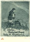 ex libris: Svatopluk Samek Spisy H. Sienkiewicze (odkaz v elektronickém katalogu)