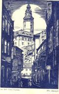 Příjemné svátky vánoční a vše nejlepší v roce 1937 přejí Vlasta, Zdenička a Svatopluk Samkovi (odkaz v elektronickém katalogu)