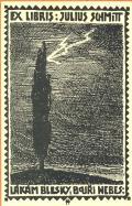EX LIBRIS JULIUS SCHMITT LÁKÁM BLESKY, BOUŘI NEBES (odkaz v elektronickém katalogu)