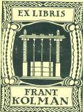 EX LIBRIS FRANT. KOLMAN (odkaz v elektronickém katalogu)