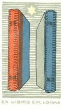 EX LIBRIS EM. LOHMA (odkaz v elektronickém katalogu)