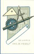 EX LIBRIS ING. B. VESELÝ (odkaz v elektronickém katalogu)