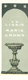 EX LIBRIS MARIA LOHMA (odkaz v elektronickém katalogu)