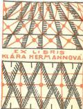 EX LIBRIS KLÁRA HERMANNOVÁ (odkaz v elektronickém katalogu)