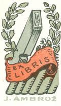 EX LIBRIS J. AMBROŽ (odkaz v elektronickém katalogu)