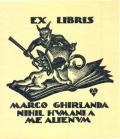 EX LIBRIS MARCO GHIRLANDA NIHIL HUMANI A ME ALIENUM (odkaz v elektronickém katalogu)