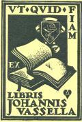 EX LIBRIS JOHANNIS VASSELLA (odkaz v elektronickém katalogu)