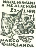 NIHIL HUMANI A ME ALIENUM EX-LIBRIS MARCO GHIRLANDA (odkaz v elektronickém katalogu)