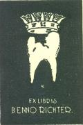 EX LIBRIS BENNO RICHTER (odkaz v elektronickém katalogu)