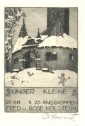 UNSER KLEINE IST AM X 23 ANGEKOMMEN FRED u. ROSE HOLSTEIN (odkaz v elektronickém katalogu)