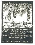 FROHE WEIHNACHTEN U. GLÜCKLICHES NEUJAHR WÜNSCHEN FRITZ U. MARGARETE POEVERLEIN (odkaz v elektronickém katalogu)